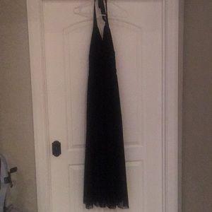 White House Black Market Black long gown dress SZ4